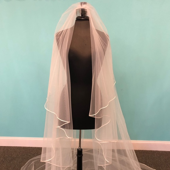 Peter Langner Accessories - Ivory Cathedral Length 2-Tier Veil